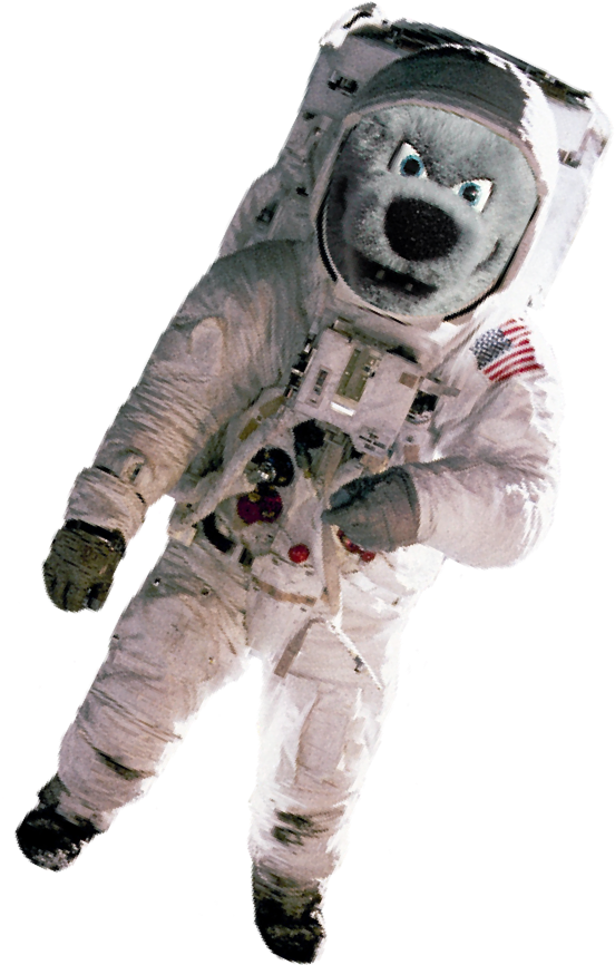 wolfie the astronaut